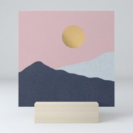 Minimal Mountains Mini Art Print