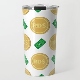 Dominican Republic's Dominican peso RD$ code DOP banknote and coin pattern wallpaper Travel Mug