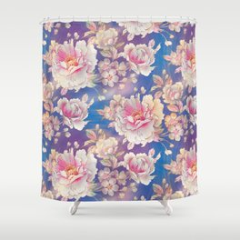Testing The Flowers. Shower Curtain