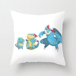 Watery Family #2 Throw Pillow