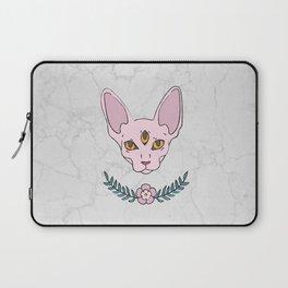 Three cat eyes pink surprise Laptop Sleeve