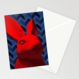 red bunny Stationery Cards