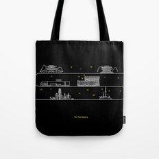 Seoul cityscape Korea Republic of graphics design Tote Bag