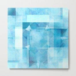 Aquamarine blue pattern Metal Print