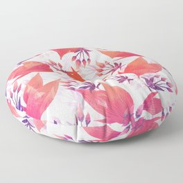 exotic floral blossoms Floor Pillow