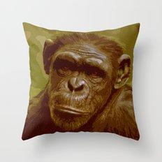 camo monkey! Throw Pillow