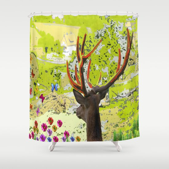 Deer Online Shower Curtain By Laake Photos
