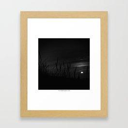 Coucher du soleil Framed Art Print