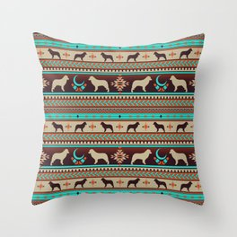 Boho dogs | Australian shepherd sunset Throw Pillow