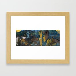 Paul Gauguin -Where Do We Come From? What Are We? Where Are We Going?, Framed Art Print