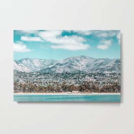 Houses are not allowed past the middle of that mountain. Metal Print