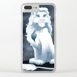 White Lion Clear iPhone Case