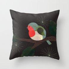 Holiday Robin Throw Pillow