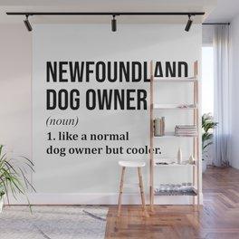 Newfoundland Dog Funny Wall Mural