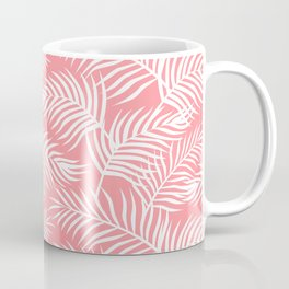 Palm Leaves_Pink Coffee Mug