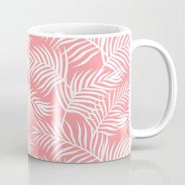Palm Leaves_Pink Coffee Mug