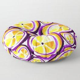 Sweet Plum Lemon Floor Pillow