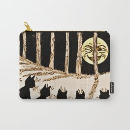 Cats & a Full Moon-Louis Wain Black Cats Carry-All Pouch