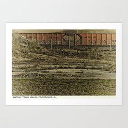 Providence Postcard Project: Amtrak Train, Valley Art Print