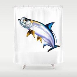 Tarpon Jump Shower Curtain