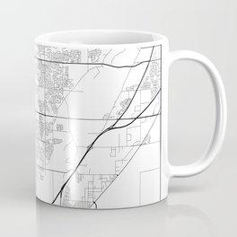 Minimal City Maps - Map Of Thornton, Colorado, United States Coffee Mug