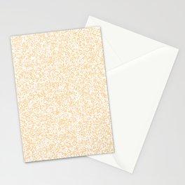 Tiny Spots - White and Sunset Orange Stationery Cards