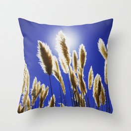 Backlit Blue Throw Pillow