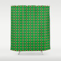 brazil Shower Curtains featuring Brazil Flag by klausbalzano