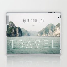 Quit Your Job and Travel Laptop & iPad Skin