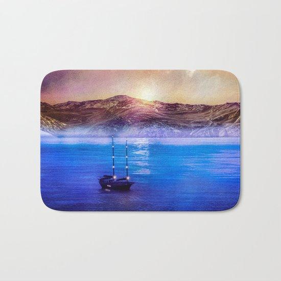 Blue/purple, trip. Bath Mat