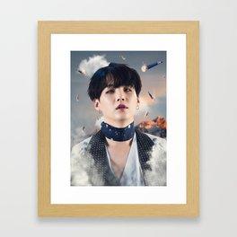 "Suga ""MIC Drop"" Framed Art Print"