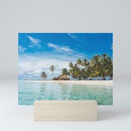 Huts on the San Blas Islands, Panama Mini Art Print