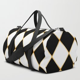 Chess board with golden threads Duffle Bag