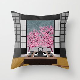 JAPANESE ROOM Throw Pillow