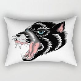 Traditional Wolf Tattoo Rectangular Pillow