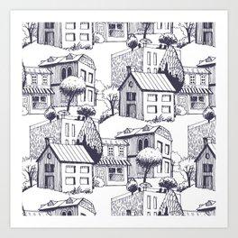 little village Art Print