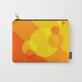 Orange Spheres Abstract Carry-All Pouch