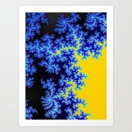 Blue Yellow Pattern Art Print