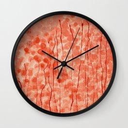 Dappled Coral Wall Clock