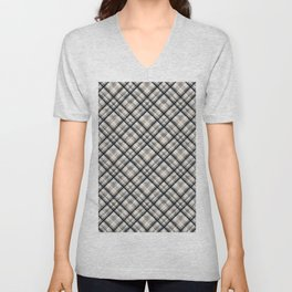 Squares and rectangles under the slope, checkered pattern. Unisex V-Neck