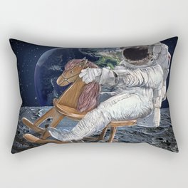 Space Cowboy Painting | Woke Up From A Dream For This Idea Rectangular Pillow