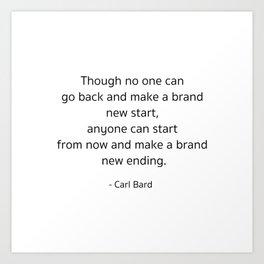 Starting – Carl Bard Art Print