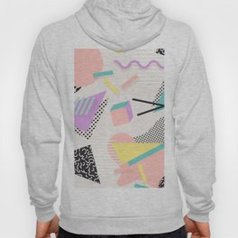 80s / 90s RETRO ABSTRACT PASTEL SHAPE PATTERN Hoody