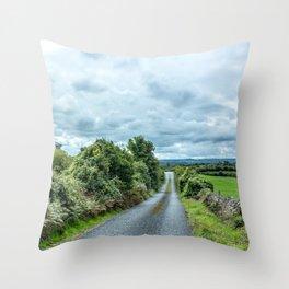 The Rising Road, Ireland Throw Pillow