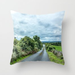 The Rising Road, Ireland Throw Pillow