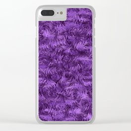 Marbled Paisley - Purple Clear iPhone Case