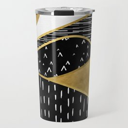 Gold Sun, digital surreal landscape Travel Mug