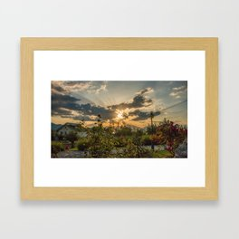 Abruzzo Sunset Framed Art Print