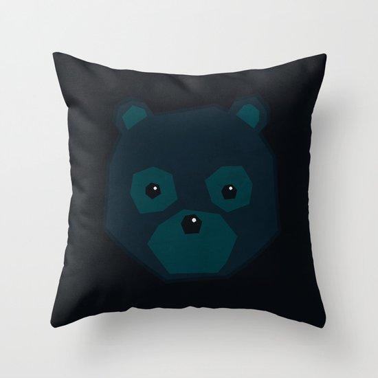 Polygon Bear Throw Pillow