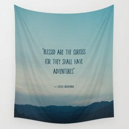 blessed are the curious ... Wall Tapestry